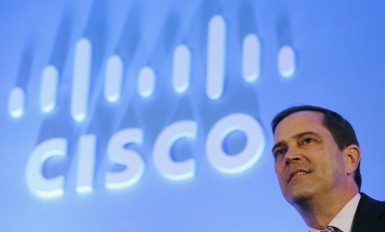 Chuck Robbins, incoming CEO of Cisco, listens a question from media during a news conference in New Delhi, India, June 18, 2015. REUTERS/Adnan Abidi - RTX1H2S1